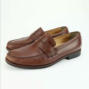 Johnston Murphy sheepskin Penny loafers Sz 10.5 M